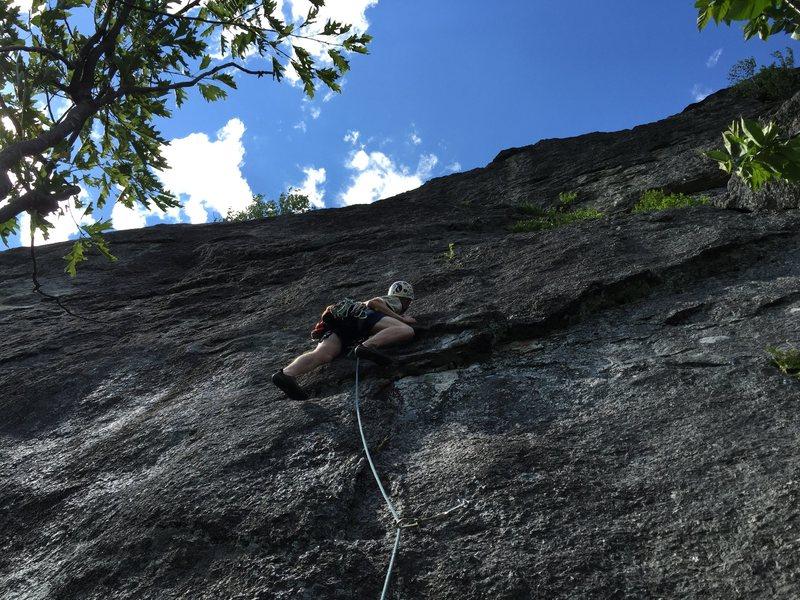 Rock Climbing Photo: Erik on the FA