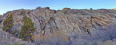 Rock Climbing Photo: Gietroz sector 3 - entire sector from E . . . . ...