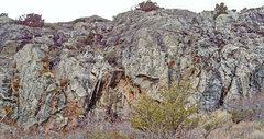 Rock Climbing Photo: Gietroz sector 3 - left center . . . . (known ro...