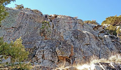 Rock Climbing Photo: Sebastien sector 5 from ENE . . . . (No routes kno...