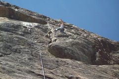 Rock Climbing Photo: Mike Arechiga on, Poking Papa Bear. 5.8, with a 70...