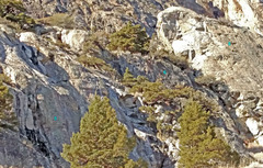 Rock Climbing Photo: Overview of sectors 5 + 6 + high part 8 5 = Sebast...