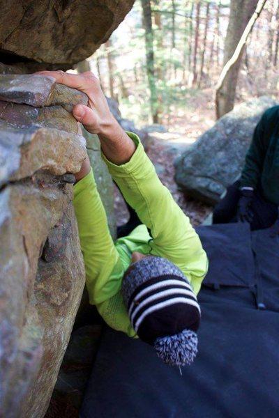 Rock Climbing Photo: Joe on Time Out (V1/2)