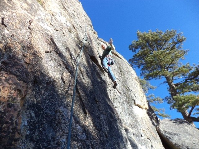 Rock Climbing Photo: Mike Arechiga on one of many super fun 5.7's r...