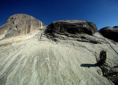 Rock Climbing Photo: East Cottage Dome. Routes are on the wall to the l...