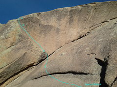 Rock Climbing Photo: The view from the start of pitch 4.