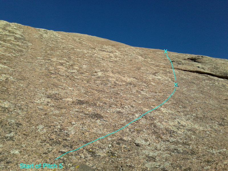 The view from the start of pitch 5.