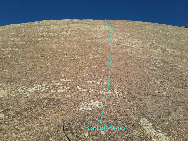 The view from the start of pitch 6.