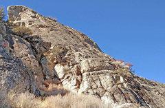 Rock Climbing Photo: Miroir sector 8: high part, with la Dent de l'...