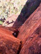 Rock Climbing Photo: P1 corner