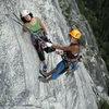 The ladies like it.<br> <br> At the belay end of pitch 3 SoY.