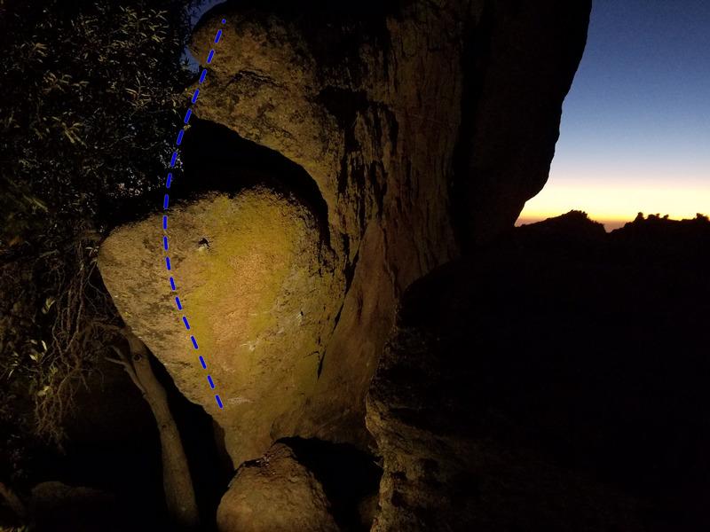 Rock Climbing Photo: The Incubator climbs the overhanging prow via refr...
