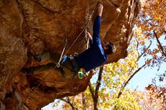 Rock Climbing Photo: Kevin goes for the clip before he commits to pulli...