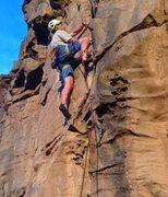 Rock Climbing Photo: Willsey leading Julius Squeezer.