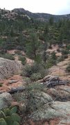Rock Climbing Photo: As you arrive from the east on the South Boulders ...