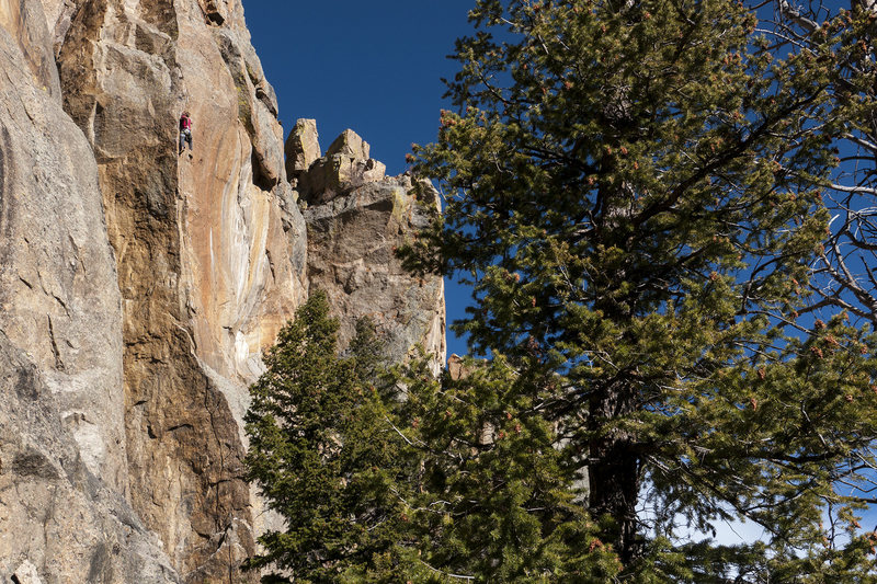 Rock Climbing Photo: Gotta keep it together till the end of this 120 fo...