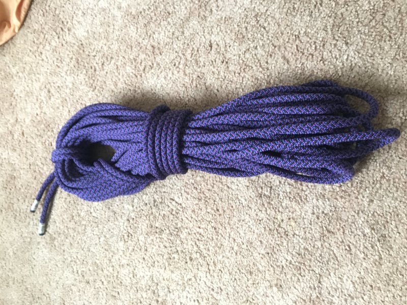 Never used Edelweisse Discovery 8mm x 30m Super Dry Glacier Rope
