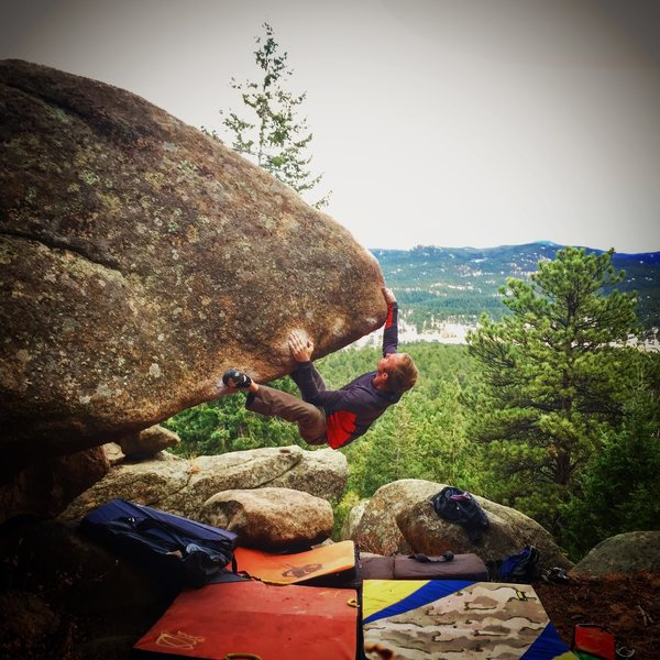 Rock Climbing Photo: Probably the best problem in The Park!  Heinous to...