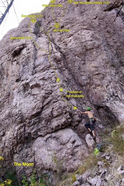 Rock Climbing Photo: Topo showing the base area and surrounding routes.