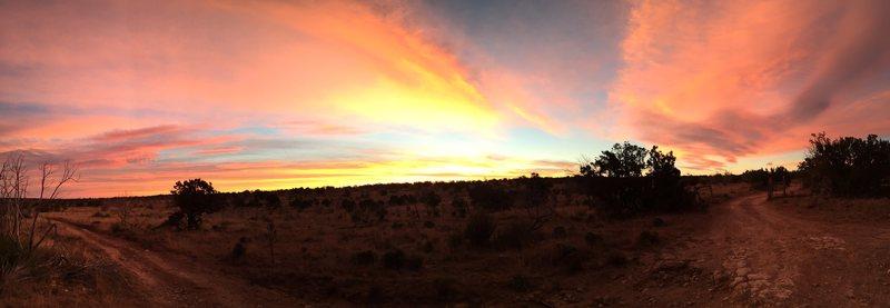 Sunrise at Last Chance Canyon - Nov. 2016