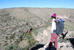 Rock Climbing Photo: Tiff at the start of the approach into the beautif...