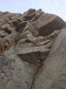 Rock Climbing Photo: Nestor through the fun stuff on p.1