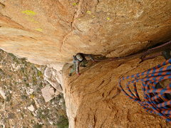 Rock Climbing Photo: Coming up P3 - not as burly as P2, but still a goo...