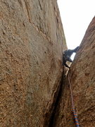 Rock Climbing Photo: Heading up the last pitch -- what a relief! Walkin...