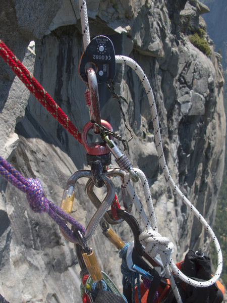 Rock Climbing Photo: Micro Trax/Haul Bag connection