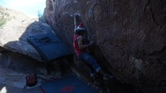 Rock Climbing Photo: The first shouldery move of TCMR