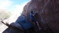 Emmett making the second Ascent