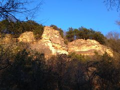 Rock Climbing Photo: The Spire area as seen from the Katy Trail