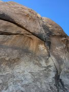 Rock Climbing Photo: Right Baskerville Crack from the bottom