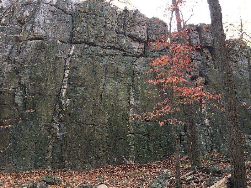 The Main Wall at Wolf Rock<br> Catoctin Mountain Park, Maryland