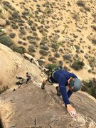 Rock Climbing Photo: (I forgot to ask his name) leading Pop Goes Hawaii...