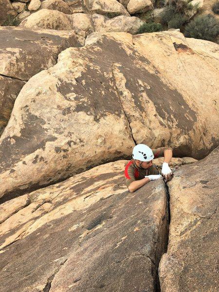 Rock Climbing Photo: Lukas leading the CHief