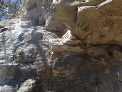Rock Climbing Photo: Start under the roof, to the right, or try the dir...