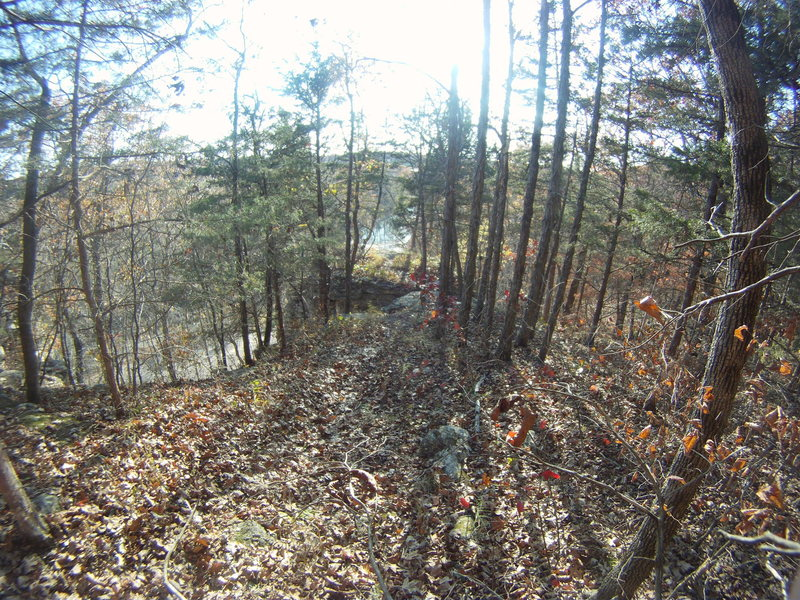 Hike around and through a drainage then back out towards a steep drop