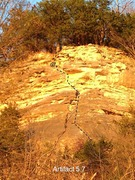 Rock Climbing Photo: Follow the seam and dihedrals up the center of the...