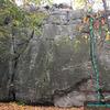 Arachnophobe&@POUND@39@SEMICOLON@s Nightmare (5.1) at The Main Wall<br> Wolf Rock, Catoctin Mountain Park