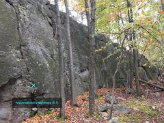 Rock Climbing Photo: Side view of Arachnophobe's Nightmare (5.1) an...