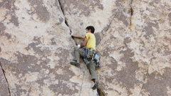 Rock Climbing Photo: My second ever lead in Joshua Tree, Double Dogleg