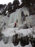 Rock Climbing Photo: Tooling around below route 6, February 2016. A sup...