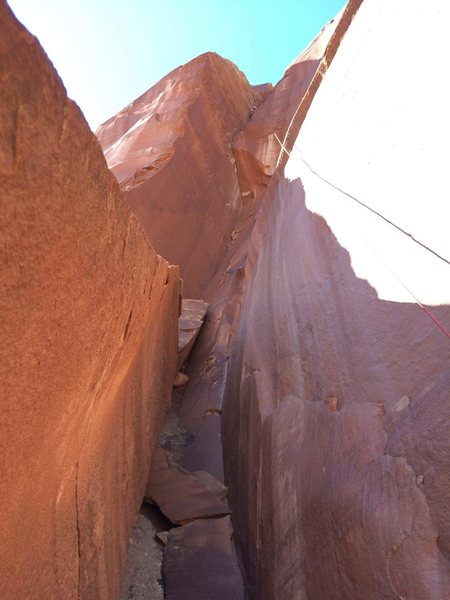 Rock Climbing Photo: The start of the climb, easy terrain on mild choss...