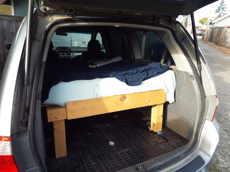 Rock Climbing Photo: bed in van