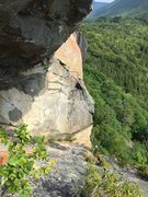 Rock Climbing Photo: Erik heading up to check out the unclimbable overh...