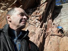 Rock Climbing Photo: Two jackets, bro.