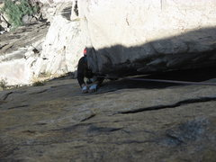 Rock Climbing Photo: Good flakes and edges mean that the steep, wide pa...