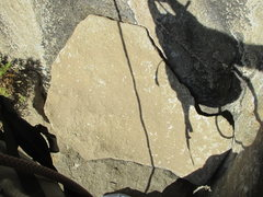 Rock Climbing Photo: The Landmark 'Michigan Mitten' Flake at th...