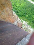 Rock Climbing Photo: P4 of fastest gun 5.10 in poke-o moonshine upstate...